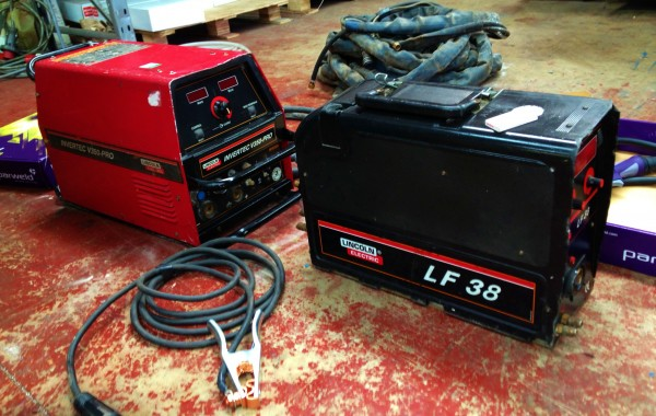 Lincoln Electric Invertec V350-Pro MIG/MMA Welding Machine with LF 38 Wire Feeder