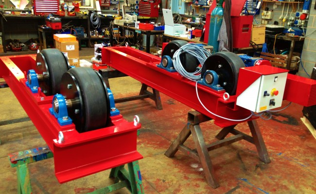 10 Tonne Welding Rotator build process 10