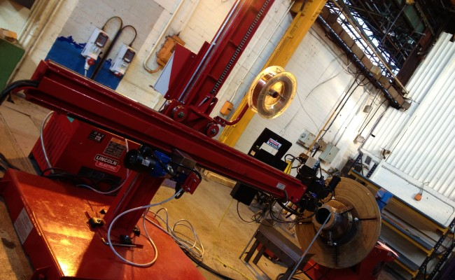 2.5m x 2.5m Column and Boom Welding Manipulator with NA-5 3