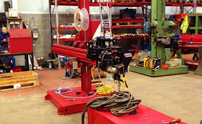 2.5m x 2.5m Column and Boom Welding Manipulator with NA-5 4