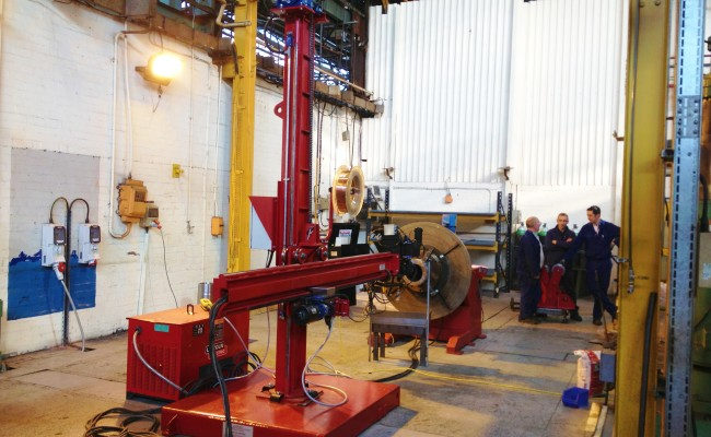 2.5m x 2.5m Column and Boom Welding Manipulator with NA-5 5