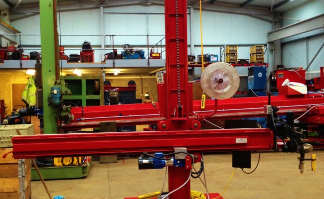 2.5m x 2.5m Column and Boom Welding Manipulator with NA-5 8
