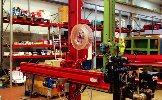 2.5m x 2.5m Column and Boom Welding Manipulator with NA-5 9
