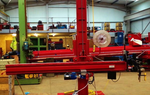 2.5 m x 2.5 m Column and Boom Welding Manipulator