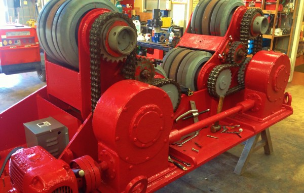 Reconditioning BODE 50 Tonne Self Aligning Welding Rotators Process