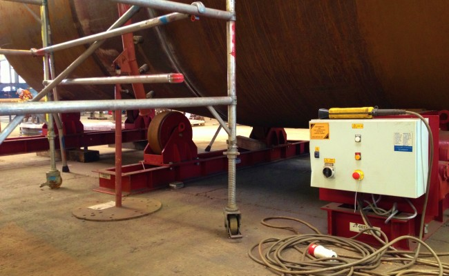 2 40 Tonne Conventional Welding Rotators