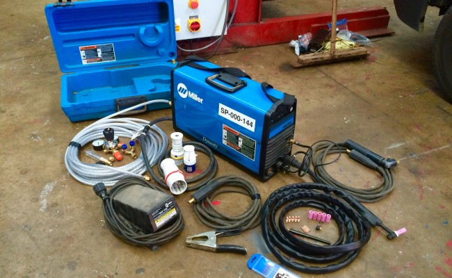1. MIller Dynasty AC:DC 200 TIG Welding Machine with Foot Pedal