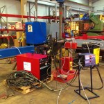 2 x 1.5 column and boom welding manipulator with DC 1000 1