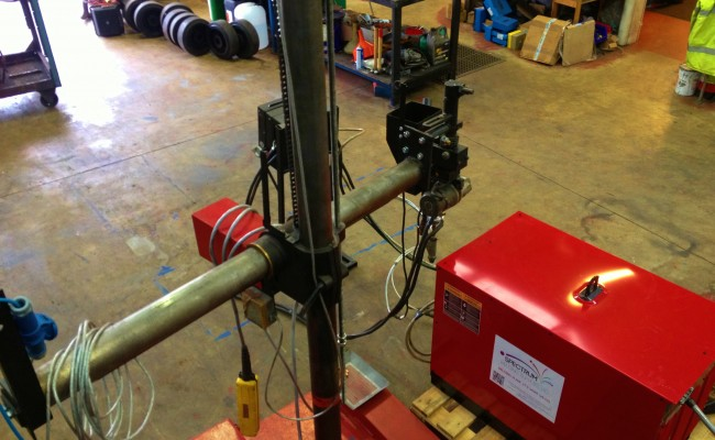 2 x 1.5 column and boom welding manipulator with DC 1000 10
