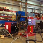 2 x 1.5 column and boom welding manipulator with DC 1000 2