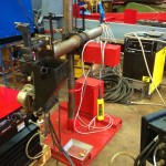2 x 1.5 column and boom welding manipulator with DC 1000 7