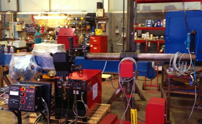 2 x 1.5 column and boom welding manipulator with DC 1000 8