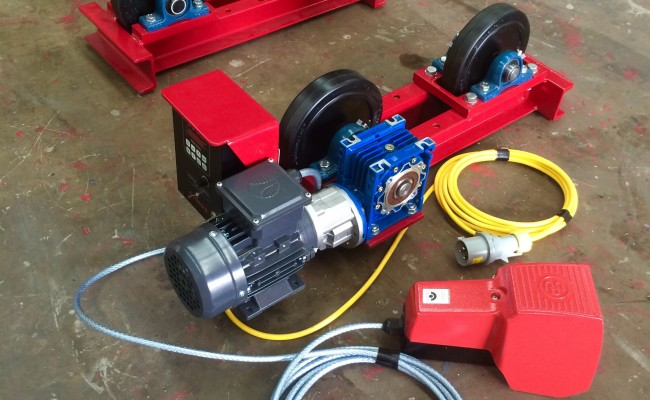 2. 1 Tonne Pipe Rotators 110V, Brand New with Foot Pedal