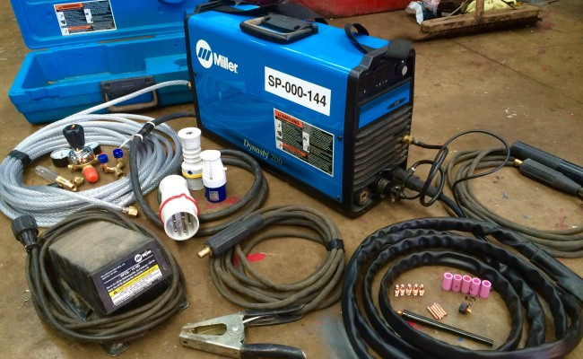 2. MIller Dynasty AC:DC 200 TIG Welding Machine with Foot Pedal