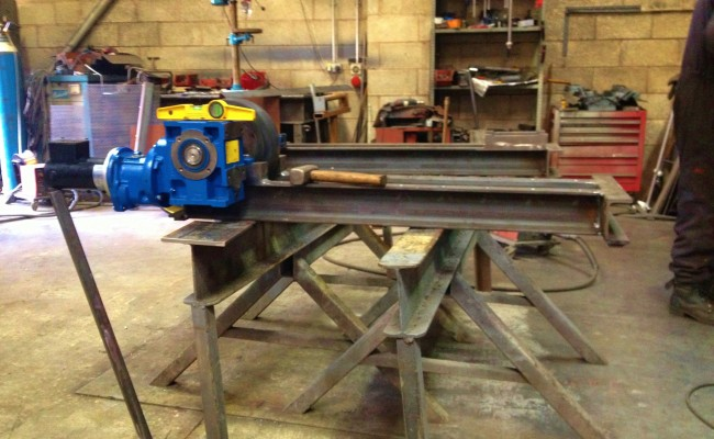 2.5 Tonne Welding Rotators build process 1