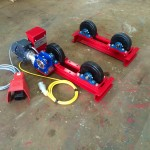 4. 1 Tonne Pipe Rotators 110V, Brand New with Foot Pedal