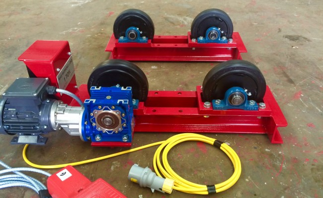 6. 1 Tonne Pipe Rotators 110V, Brand New with Foot Pedal