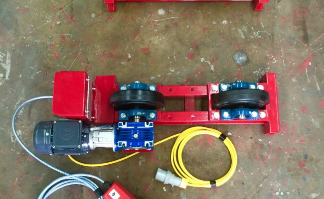 7. 1 Tonne Pipe Rotators 110V, Brand New with Foot Pedal
