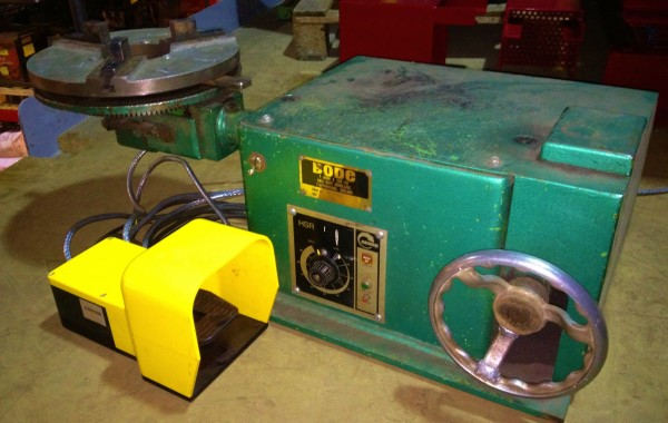 BODE 50 kg Benchtop Welding Positioner complete with Foot Pedal and Chuck