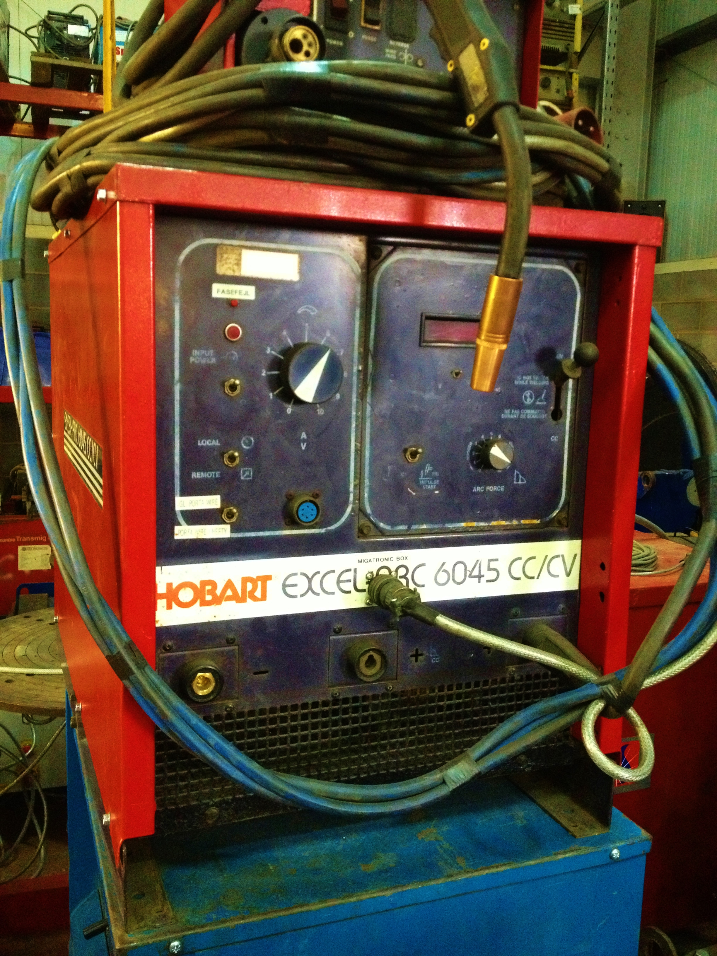 Hobart Excel Arc 6045 Mig Welding Machine With Tweco No 5 Torch 250 Welder Wiring Diagram 2