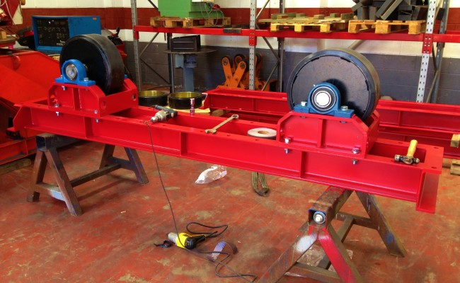 Manufacturing 30 Tonne Welding Rotators 4