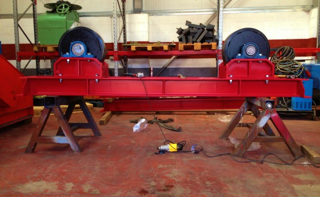 Manufacturing 30 Tonne Welding Rotators 5
