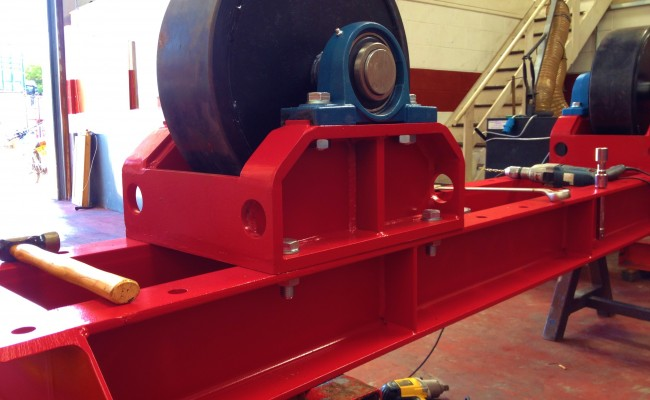 Manufacturing 30 Tonne Welding Rotators 6