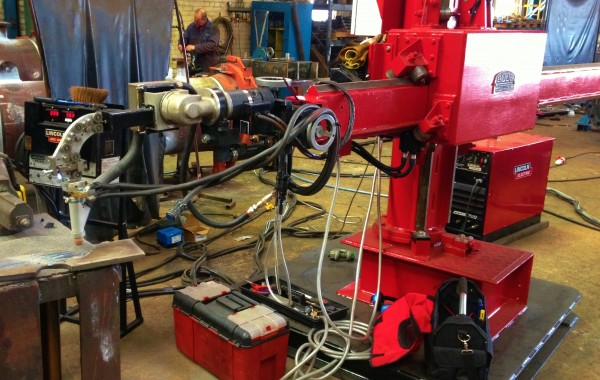 3 m x 2.5 m Column and Boom Welding Manipulator with Sub Arc Forced Air Flux Pressure Feed Tank