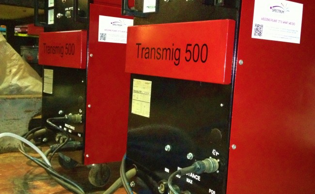 Transmig 500 with Parweld water cooler 11