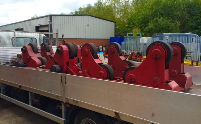 1. BODE 10 Tonne SAR Self Aligning Welding Rotators for Hire