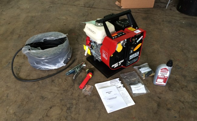 1. Mosa Magic Weld 150 Petrol Welder Generator with 110V Aux, Brand New