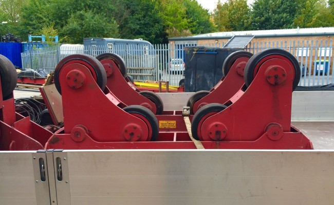 2. BODE 10 Tonne SAR Self Aligning Welding Rotators for Hire