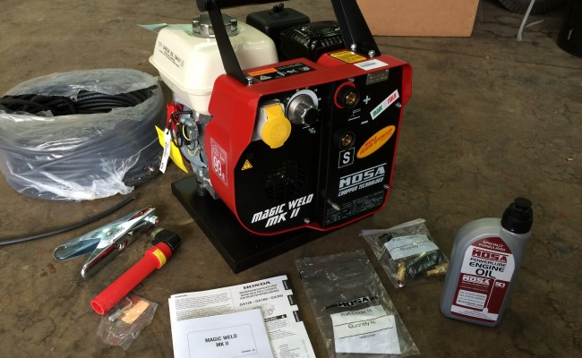 2. Mosa Magic Weld 150 Petrol Welder Generator with 110V Aux, Brand New
