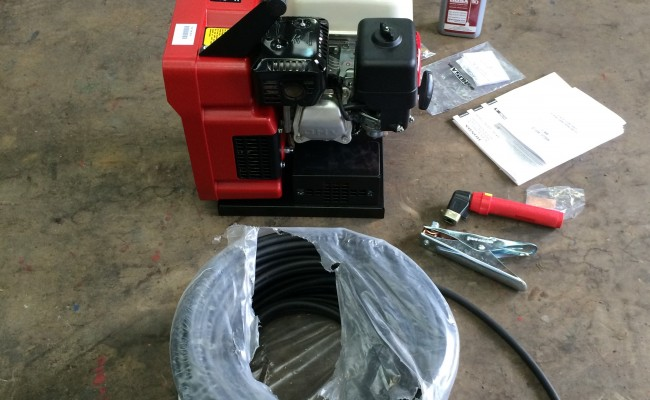 5. Mosa Magic Weld 150 Petrol Welder Generator with 110V Aux, Brand New