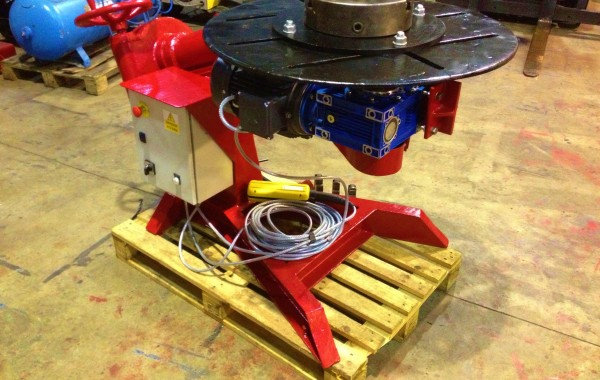 BODE 50 RPM Man-O-Matic 500kg Rotilting Welding Positioner with Chuck