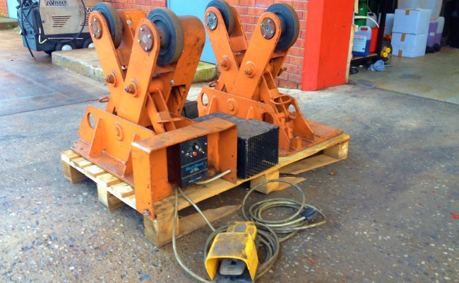 BODE 2 Tonne Scissor Pipe Rotators 2