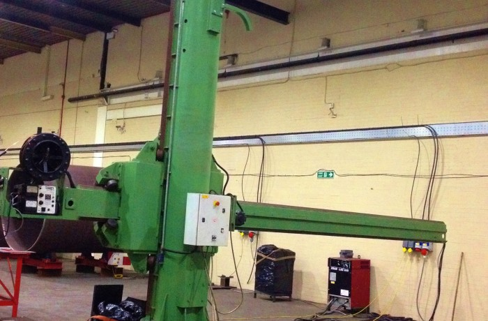 BODE 4 m x 5 m Column and Boom Welding Manipulator Hire Machine with Lincoln Electric NA-3N and ESAB LAE 800