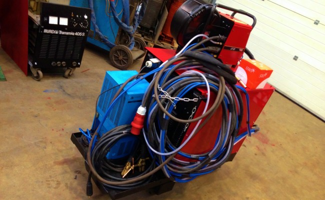 Lincoln Electric CV500-I Water Cooled MIG with LF 33 Wire Feder 12
