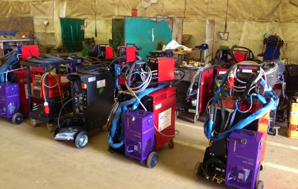12 Water Cooled MIG and 5 Water Cooled TIG Welding Machines for Hire