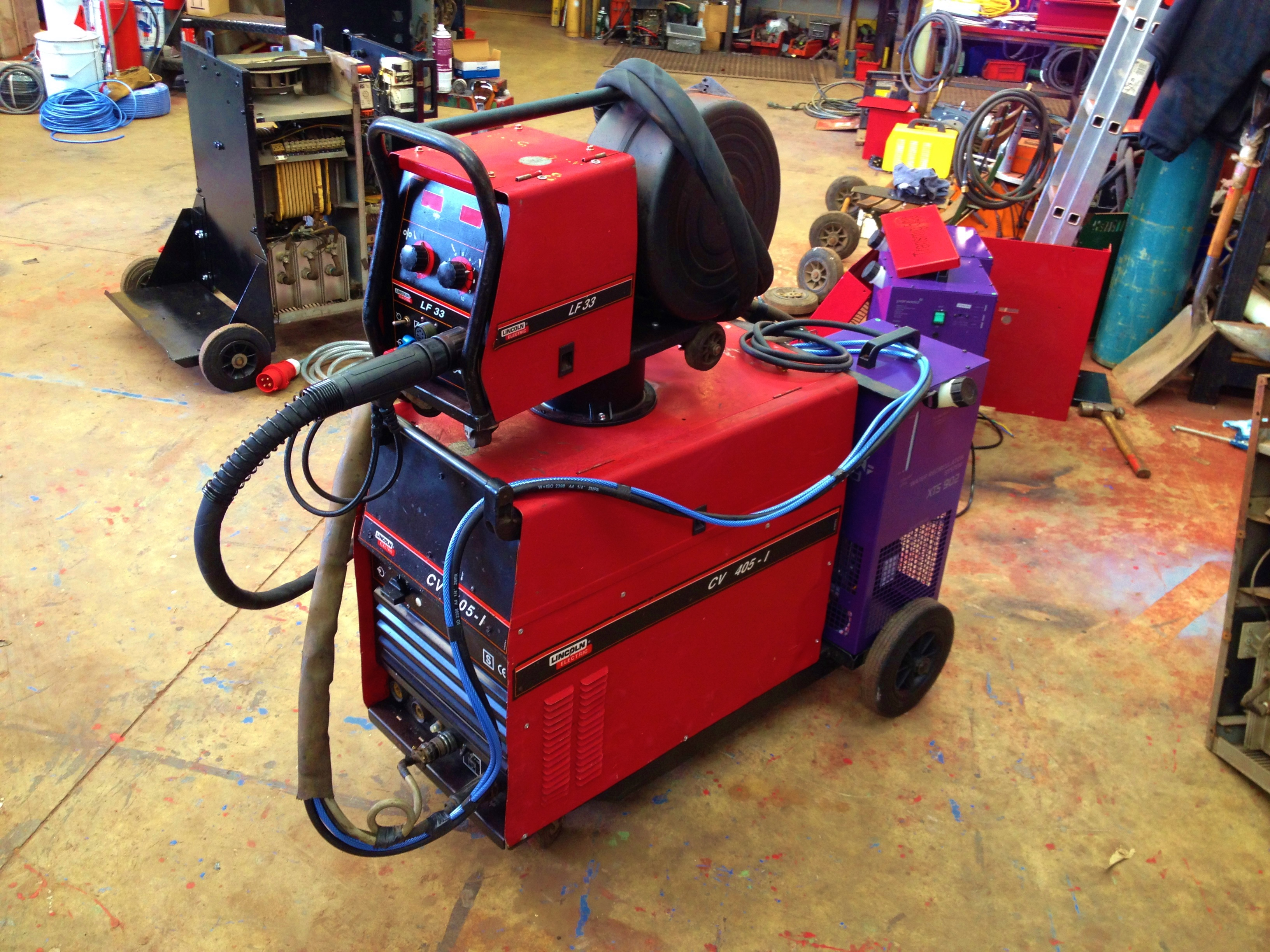 Lincoln Electric Cv 405 I Water Cooled Mig Welding Machine With Lf Arc Welder Wiring Diagram 1