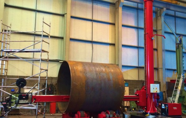 BODE 6 m x 6 m Column and Boom Welding Manipulator with Lincoln Electric Idealarc DC 1000 and NA-5