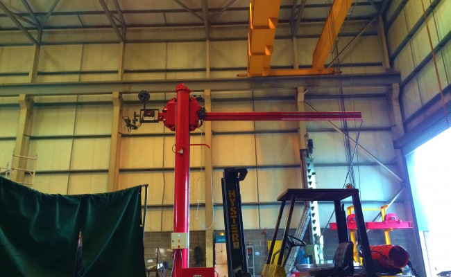 BODE 6 m x 6 m Column and Boom Welding Manipulator 10