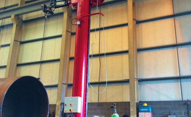 BODE 6 m x 6 m Column and Boom Welding Manipulator 15