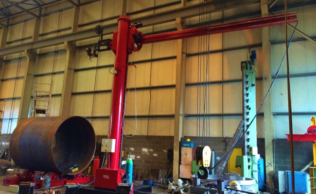 BODE 6 m x 6 m Column and Boom Welding Manipulator 26