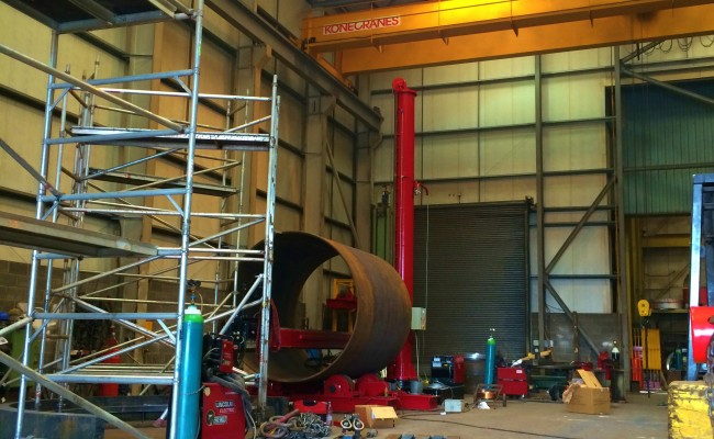 BODE 6 m x 6 m Column and Boom Welding Manipulator 6