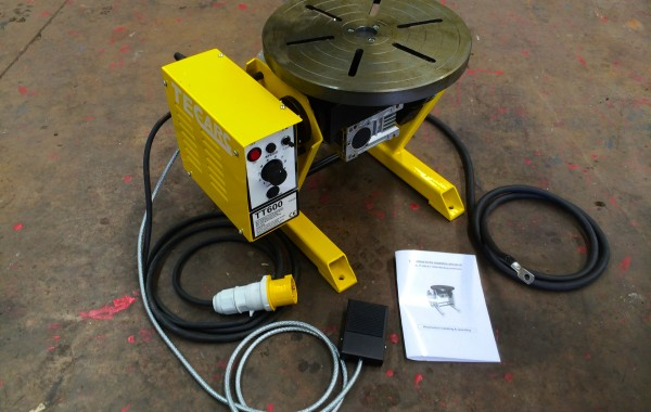 60kg Welding Positioner, 110V, Foot Pedal Operated and available with chuck