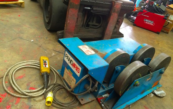 5 Tonne Fixed Steel Wheel Pipe Rotators