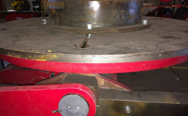 14. 5 Tonne Welding Positioner with 3 Jaw Chuck
