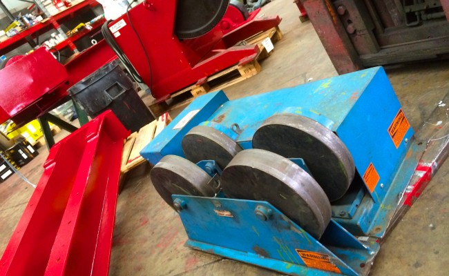 3. Pandjiris 5 Tonne Steel Wheel Pipe Rotators