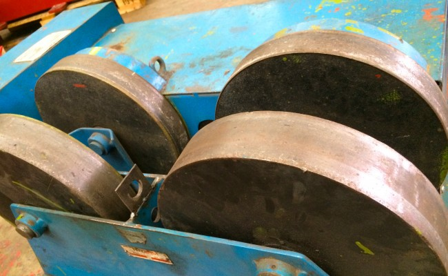 4. Pandjiris 5 Tonne Steel Wheel Pipe Rotators